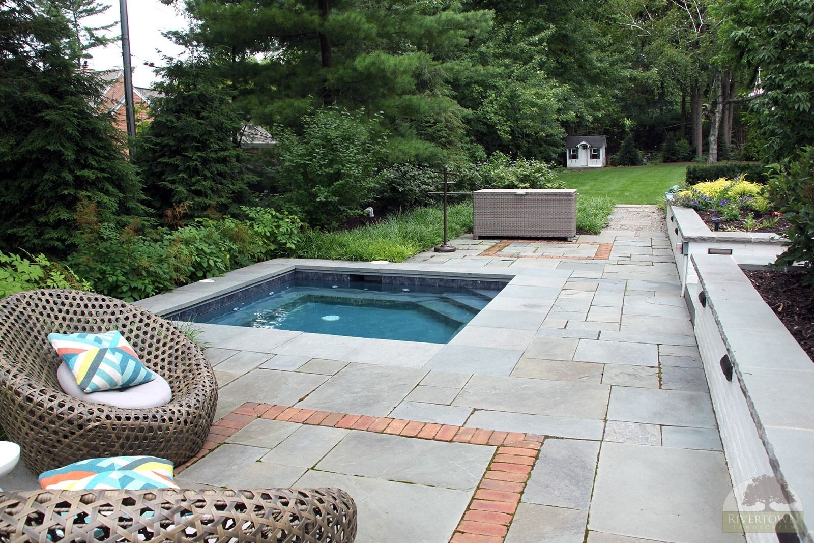 bluestone patio and spa